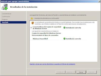 Hacer copia de seguridad de un equipo completo con Windows Server 2008
