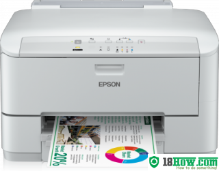 How to Reset Epson WorkForce WP-4015DN laser printer – Reset flashing lights error