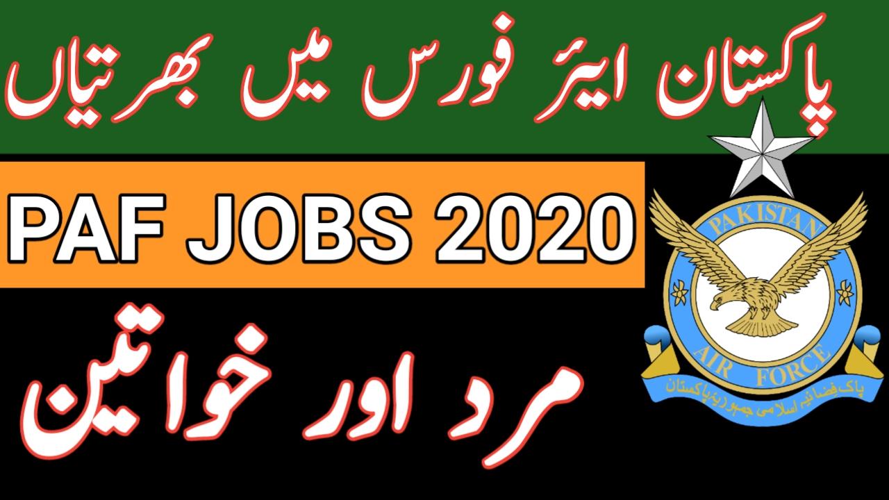 Jobs Available in PAF Pakistan 2020- Base Montessori PAF Base Faisal Karachi Jobs 2020