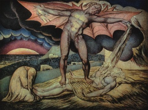William Blake Satan Smiting Job With Sore Boils C1799, William Blake