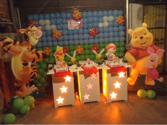 decoracao festa ursinho pooh:Detalhes com Balões: Festa Ursinho Pooh !!!