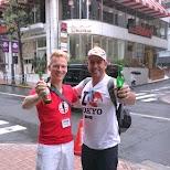 matt & shereef having Bintang beers in Shibuya 10am in Tokyo, Tokyo, Japan