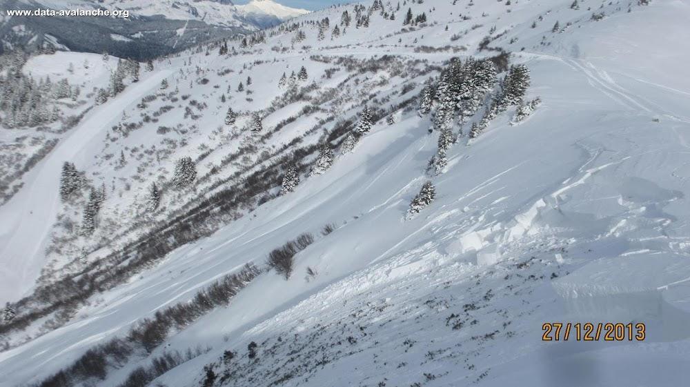 Avalanche Beaufortain, secteur Mont de Vorès, Plan des Fours - Entre les pistes Jonction Praz et Les Crozats - Notre Dame de Bellecombe - Photo 1