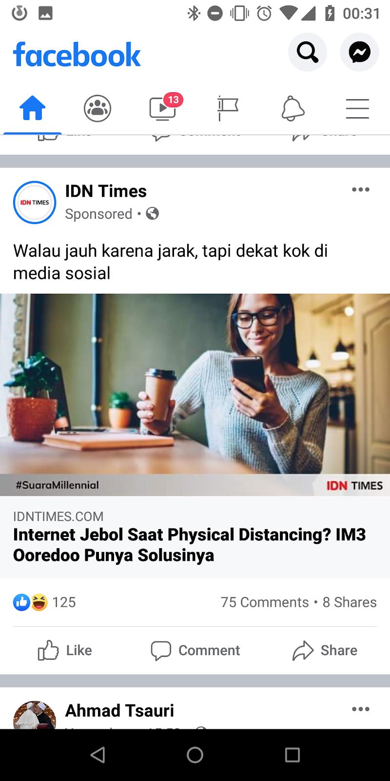 Iklan IDNTimes di Facebook
