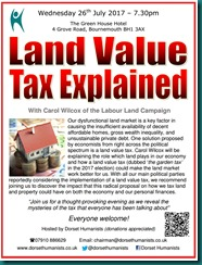 Land Value Tax Explained 26 July 2017