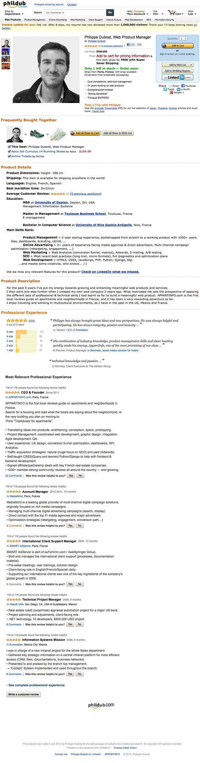 Currículum estilo Amazon