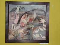 02 Anna Lčková egyik festménye a MyHont Café emeletén.JPG