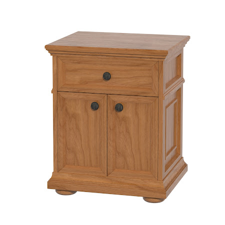 Matching Furniture Piece: Edinburgh Nightstand with Door, Vintage Cherry