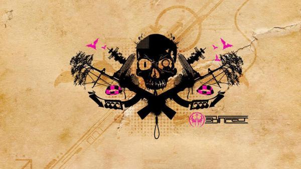 Black Skull Pattern, Symbols And Emblems