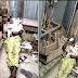Photos of Cable Thief Electrocuted At Balogun Market
