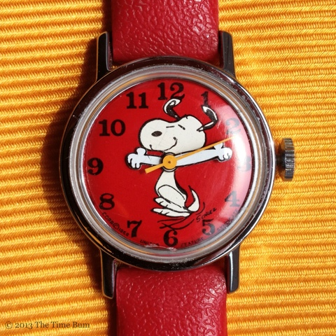 Vintage timex peanuts watch the time bum for Snoopy watches