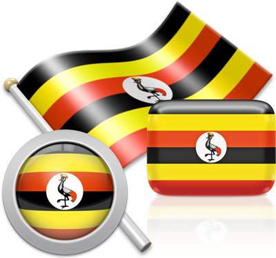 Ugandan flag icons pictures collection