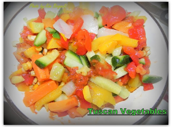 Stir in your tuscan veggies and flour. Cook another 5 minutes, stirring occasionally.