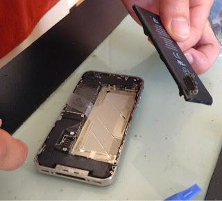 Cambiar bateria iphone 4