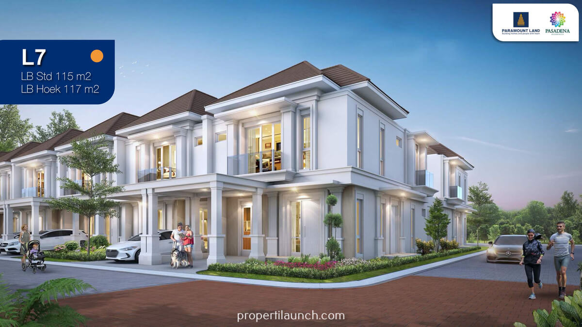 Rumah Pasadena Residence Serpong Tipe 7x18