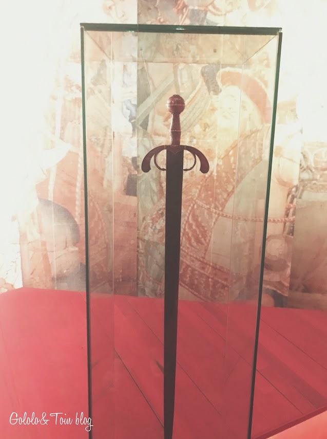 Rèplica de la espada de Fernando el Católico en Sos del Rey