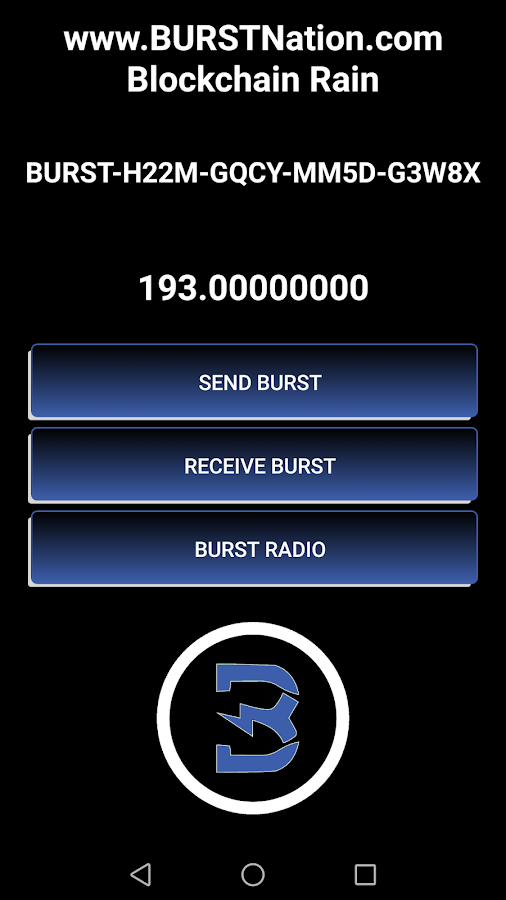 OFFICIAL BURSTCOIN MOBILE WALLET FOR ANDROID- screenshot
