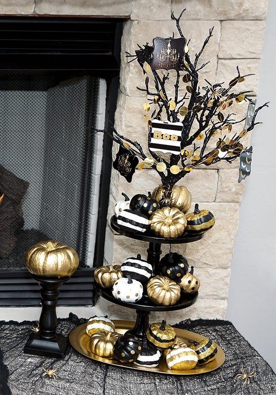 1-gold-Halloween-pumpkins