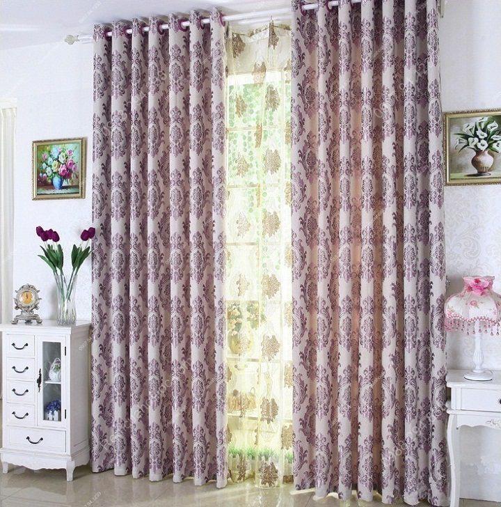 Rèm vải đẹp hà nội họa tiết đơn giản 2