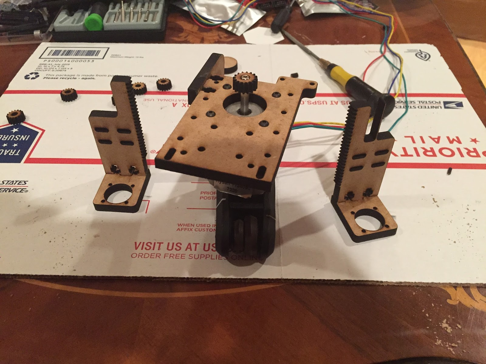 Rays Variant Of Peter Head Fully Laser Cut Google Groups Circuit Board Under The Waterjet Ready To Be Sliced Pieces Oh And Gear Rack All Perfectly Mate Interact Well I Handle My Cutting Much Like Cnc Meaning That Offset For Kerf By Doing