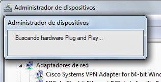 Desinstalar controlador driver de Windows y volver a buscar nuevos dispositivos