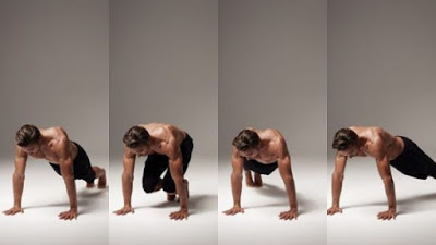 Plank side-to-side feet jump and tuck