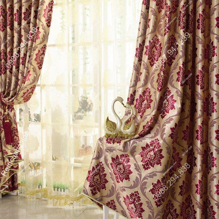 Rèm vải đẹp hà nội vector hoa đông á 2