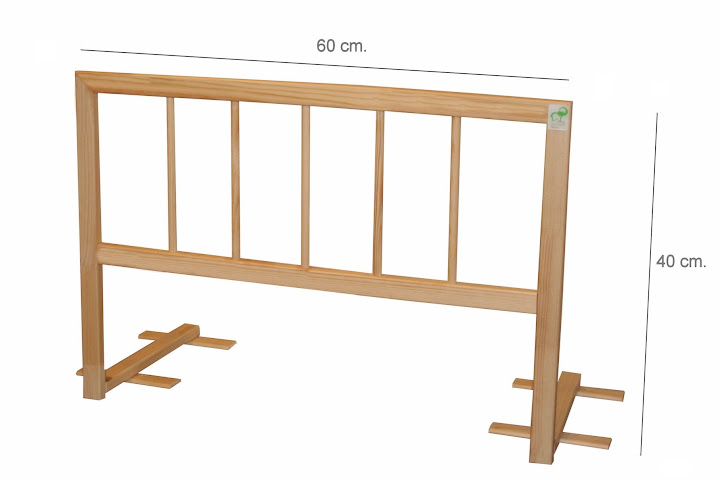 60 Portable Handrail : Baby bed safety guard rail wooden folding model cm