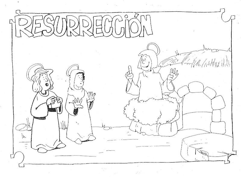 Dibujos Católicos : Resurrección de cristo para colorear