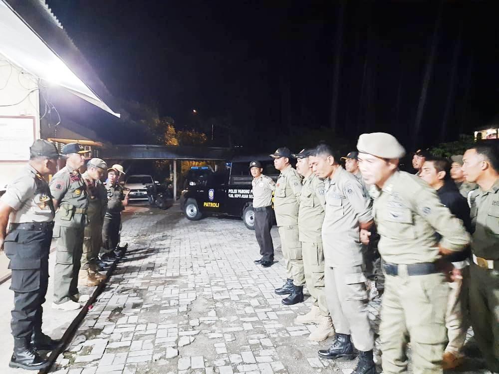Tujuh Orang Terduga Pelaku Kejahatan Jalanan Terjaring Operasi Cipkon Gabungan Polsek Benteng dan Satpol PP