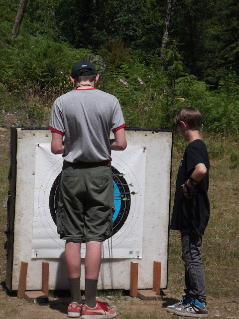 Darn archery merit badge takes the fund out of it...got to get it scored.