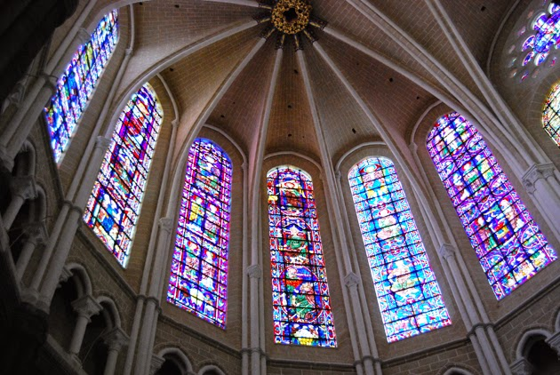 Inside the Chartres Cathedral, France