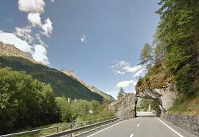 Arco di roccia presso Stampa