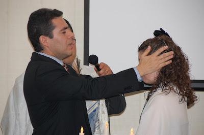 Perhaps the most moving part... Pastor Juan chanting the traditional Levitical blessing.