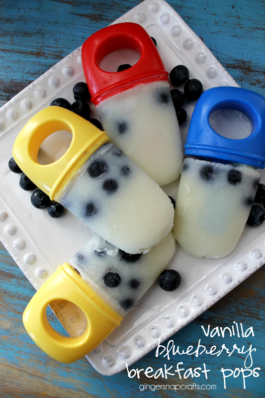 Vanilla Blueberry Breakfast Pops at GingerSnapCrafts.com