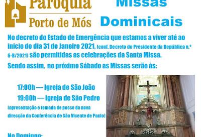 Missas Dominicais em tempo de emergência Covid-19