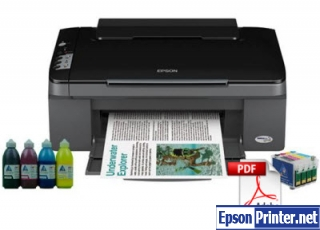 Reset Epson TX112 printer by tool