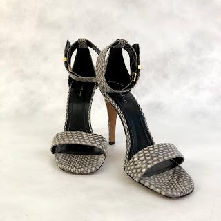 Céline Python Ankle Strap Heels