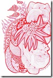 361 Zentangle Red Pattern