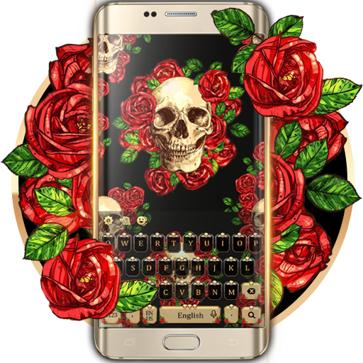 Rose skull keyboard