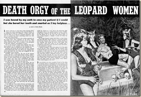 WILDCAT ADVENTURES, April 1960. Leopard Women story WM