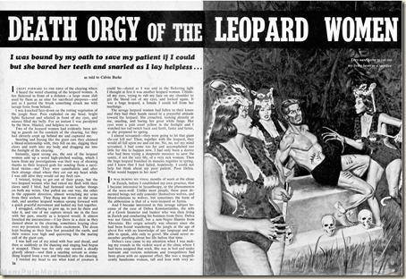 WILDCAT ADVENTURES, April 1960. Leopard Women story WM