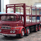 This model is a 'might have been' had more British operators opted for steel cabs on their ERFs rather than the fibreglass LV and A-series. The MV used the Motor Panels cab and was mainly sold in the UK as an artic although there are several eight-wheelers like this in New Zealand. Q823 RGC is supposedly an import from NZ and is a real mix and match of parts: it has a diecast EFE chassis with a resin Road Transport Images cab (produced as a very limited edition in 2009) and the body by Doug Roseaman Engineering consists of an etched-brass frame on a whitemetal platform.