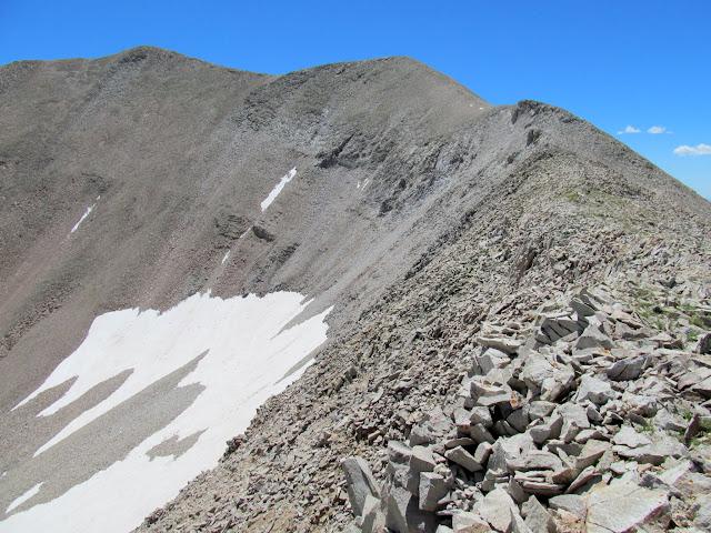 Final ridge to the summit