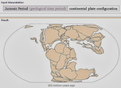Earth surface in the Jurassic period. Permukaan bumi pada periode Jura.