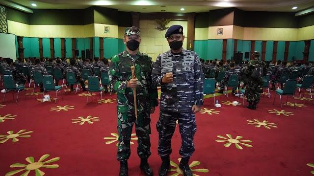 Korem  061/Sk Terima Dukungan 110 Nakes  Puskes TNI AL dan 88 Relawan Menwa Kejar Target Vaksinasi Khusus Pelosok Kab Bogor