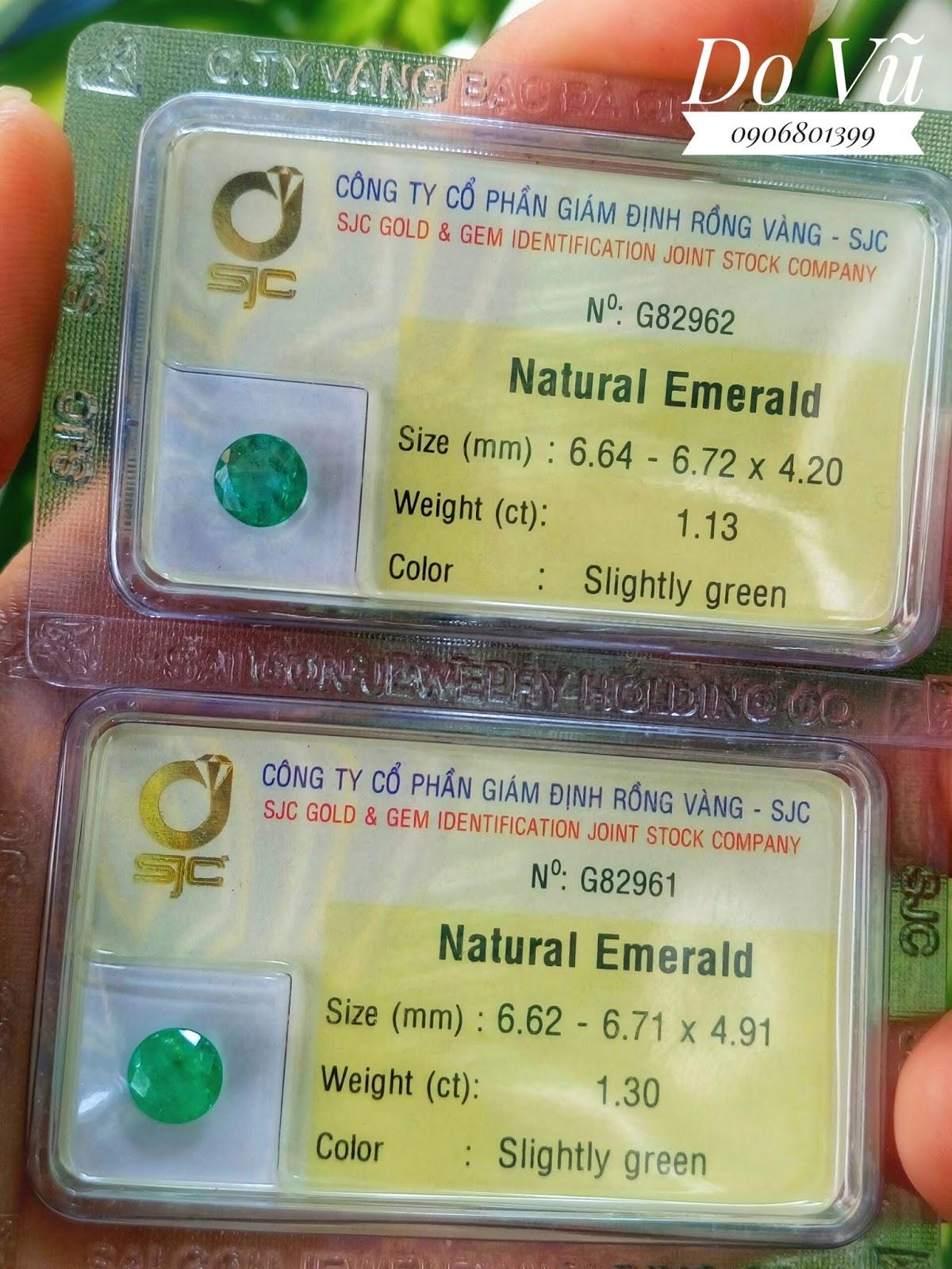 Đá quý Ngọc Lục Bảo thiên nhiên, Natural Emerald chất chất ngọc xanh Colombia