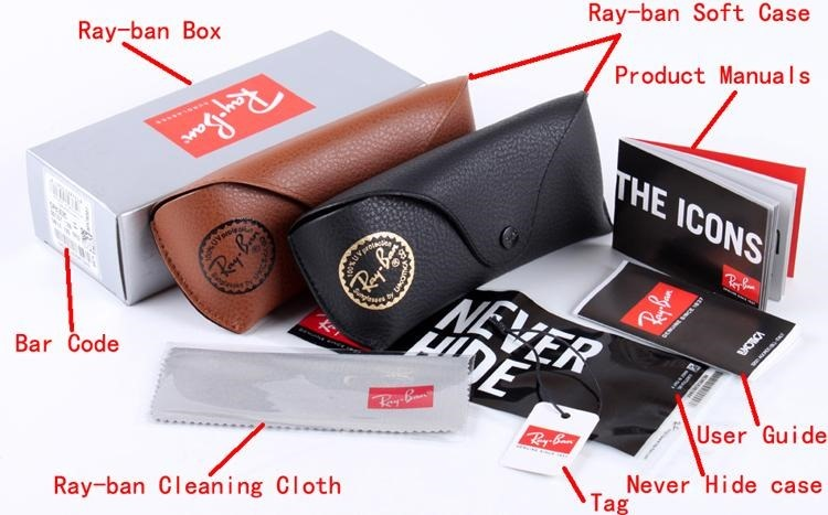 Ray-ban inside the box accessories