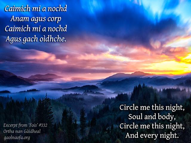 Caimich mi a nochd – Circle me this night
