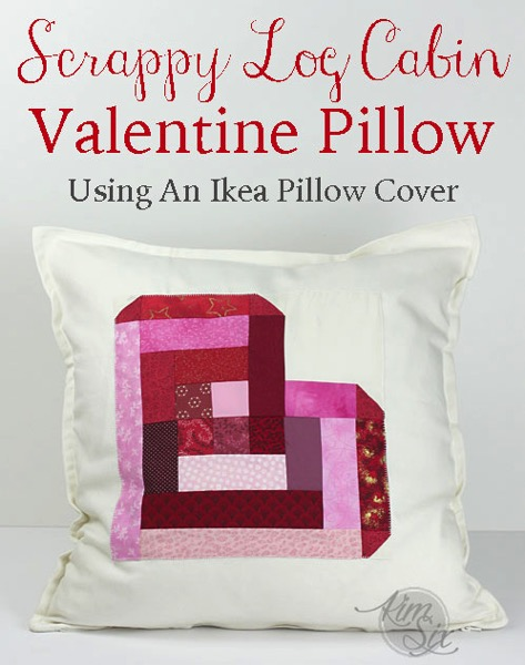 Scrappy Log Cabin Heart Pillow Ikea Hack